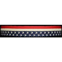 HE135 Silver Strike Flag Elastic Headband