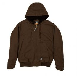 Berne Bark Duck Flex 180 Hooded Jacket Mens HJ317