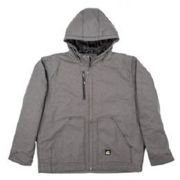 Berne Titanium Mens Heathered Modern Hooded Jacket HJ62