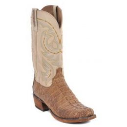 HL1011.73 Stonewash Tan Waxy Caiman Tail Men's Lucchese Boots