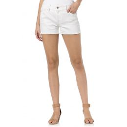 HS5151H218 WHITE OUT High Rise Miss Me Jeans Shorts