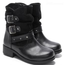 Rachel Shoes Indiana Girl's Black Pull-On Fashion Boots INDIANA