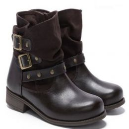 Rachel Shoes Indiana Girl's Brown Pull-On Fashion Boots INDIANA