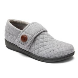Vionic Jackie Women's Light Grey Slip-On Comfort Slipper