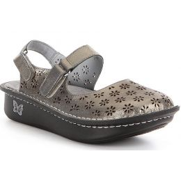 JEM-204 Jemma Pewter Easy Hand Stitched Leather Mary Jane Womens Comfort Alegria Clog