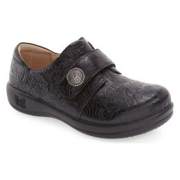 JOL-429 Joleen Black Tar Tooled Professional Nursing Alegria Womens Shoes