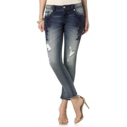 JP7668AK Sapphire Miss Me Ankle Skinny Jeans