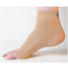 JS-6 White Compression Foot Sleeve
