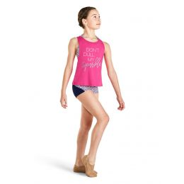 Bloch Hot Pink Open Back Girls Tank KA009T-FAE
