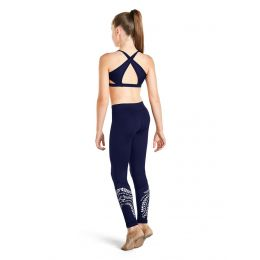 Bloch Stellar Blue Laser Crop Top Girls KA024T-STR