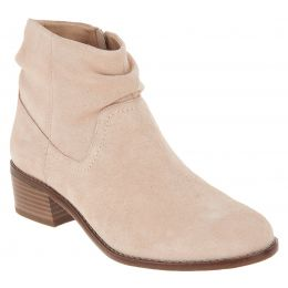 Vionic Nude Kanela Womens Suede Slouch Ankle Boots