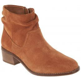 Vionic Toffee Kanela Womens Suede Slouch Ankle Boots