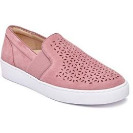 Vionic Kani Women's French Rose Suede Perforated Slip-On Sneakers
