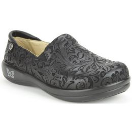 KEL-431 Embossed Paisley Slip-On Professional Nursing Womens Shoes