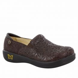 KEL-433 KELI Choco Embossed Paisley Professional Nursing Ladies Shoes