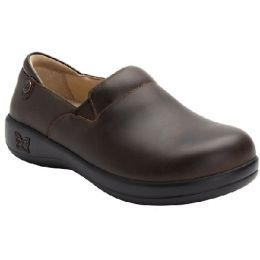 Alegria Keli Women's Oiled Brown Slip-On Comfort Shoe KEL-6201