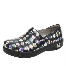 Alegria Teacup Black Patent Keli Nursing Shoes KEL-7626