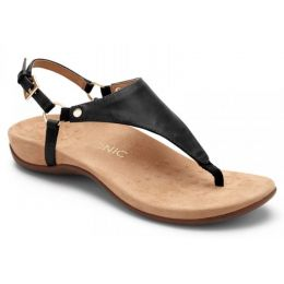 Vionic Black Kirra Backstrap Womens Adjustable Strap Sandals KIRRA-BLK