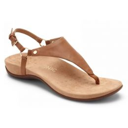 Vionic Brown Kirra Backstrap Womens Adjustable Strap Sandals KIRRA-BRN