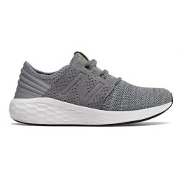 New Balance Gunmetal With White Fresh Foam Cruz Knit Pre-School Toddler Running Shoes KJCRZKPP