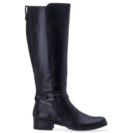 L010-BW1588-BLK SIENA Black Bussola Tall Knee High Leather Boot