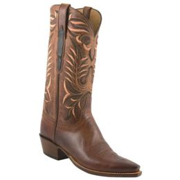 L1669.74 Classic Peanut Brittle Burnished Mad Dog Goat Lucchese Mens Western Cowboy Boots