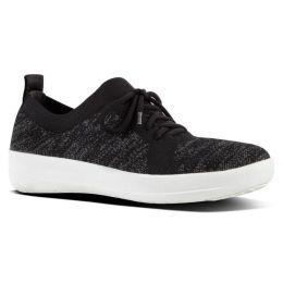Fitflop Black Sporty Uberknit Walking Sneaker Casual Womens Shoes L39-001