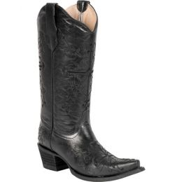Circle G from Corral Boots Cross Embroidered Snip Toe Black Womens Western Boots L5060
