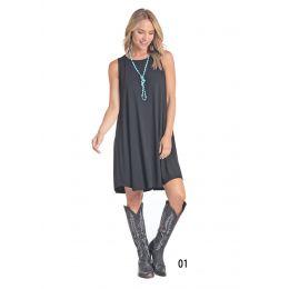 Westmoor Women's Black Sleeveless Knit Swing Dress w/ Side Seam Pockets L7D4320-01