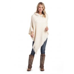 Panhandle Slim White Label Womens Hoodie Poncho Sweater L8-3681