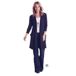 Panhandle Slim White Label Black Cardigan With Pockets L8-6420