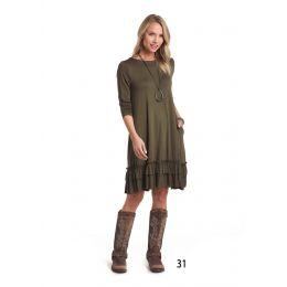 Panhandle Slim White Label Green Womens Swing Dress L8D-3671