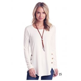 Panhandle Slim White Label Womens Long Sleeve Knit Tunic Top L8T6408