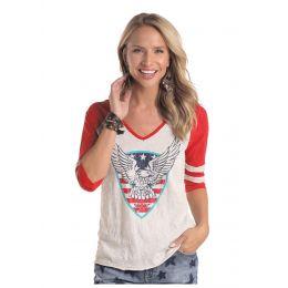 Panhandle Slim 3/4 Sleeve Graphic Shirt L9T5436