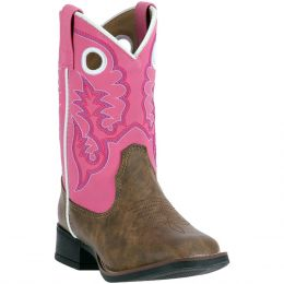 Dan Post Mahaska Pink Top Childrens Boots LC2268