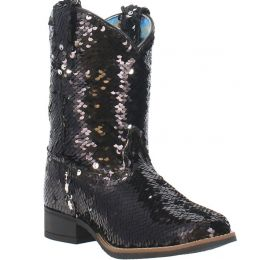 Laredo Black Sequin Kansas Childrens Boots LC2540