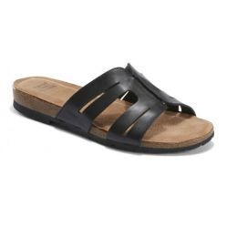 Earth Black Lyndon Leah Womens Slide On Sandals