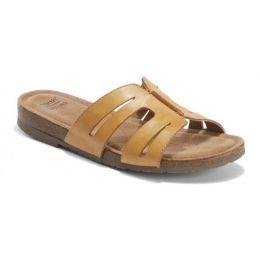 Earth Amber Yellow Lyndon Leah Womens Slide On Sandals