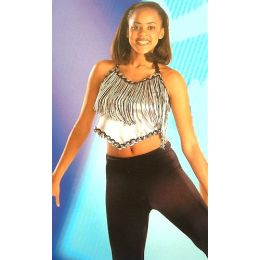 4114A  Boogie Fever Top DANCE RECITAL COSTUMES AD