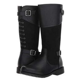 Rachel Kids Black Little Kids Melissa Tall Boot LIL MELISSA