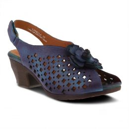 L'Artiste Blue Multi Lovella Slingback Womens Dress Sandals LOVELLA