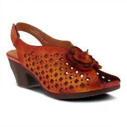 L'Artiste Red Multi Lovella Slingback Womens Dress Sandals LOVELLA
