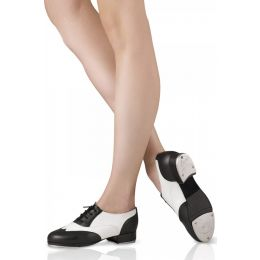 Bloch Leo Giordano Spectator Black and White Adult Tap Shoes With Two Piece Flexible Sole  Sizes4 to 11 LS3004L