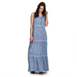 Wrangler Blue India Sleeveless Womens Long Dress LWD187B