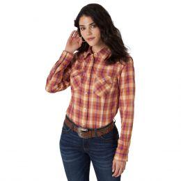 Wrangler Yellow Western Fashion Womens Top LWE830M