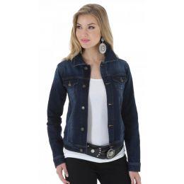 Wrangler Dark Denim Western Fashion Womens Jacket LWJ701D