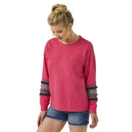 Wrangler Hot Pink With Black Fringe Sweatshirt LWK567K