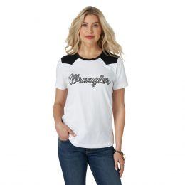 Wrangler White Western Fashion Womens Top LWK803W