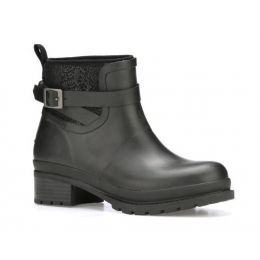 Muck Black Womens Liberty Waterproof Ankle Rubber Boots LWKR-000