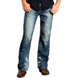 M0D1615 Double Barrel Relax Rock & Roll CowboyBoot Cut  Mens Jeans